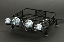 Jazrider 1/10 RC Steel Luggage Roof Rack w/LED Light Car Buggy Deatiled Up Parts