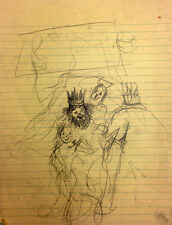 Julian Ritter -  The King #3 Sketches for Future Painting Pencil on Paper 91