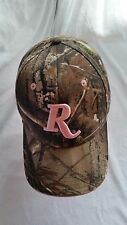 LADIES REMINGTON CAP-REALTREE CAMO W/PINK EMBROIDERY-ONE SIZE-VELCRO BACK