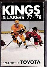 1976-77 LOS ANGELES KINGS LAKERS NHL HOCKEY NBA BASKETBALL POCKET SCHEDULE