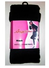 Ladies Thick Super Soft BLACK FOOTLESS Winter Tight Angelina #008A