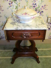 Mahogany Harp Base Accent Table Victorian Furniture Co. Montgomery Alabama