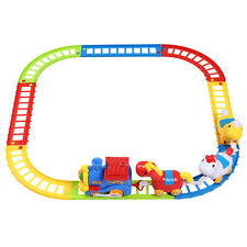 Xmas Gift Kids Musical Hourse & Train Track Play Set Railway Track Slot Toys
