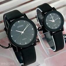 Women Men Black Modern Stylish Waterproof His-and-hers Watches Wristwatches Gift