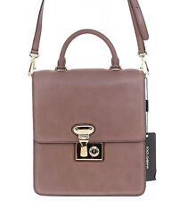 NWT $1680 DOLCE & GABBANA MISS LINDA Brown Leather Shoulder Bag Messenger Purse