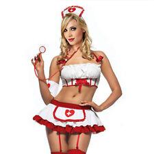 Cosplay costume infirmière sexy Racy Lingerie Uniforme Tentation de nuit Bon