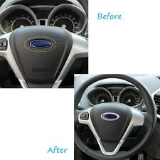 ABS Chrome Steering Wheel Rring Cover Logo for Ford Fiesta Focus Wing Stroke