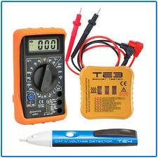 Bolígrafo Detector voltaje multímetro digital tester kit de pruebas eléctricas Conjunto de Zócalo