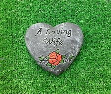 Wife Grave Memorial.Concrete,stonegrave cemetery shrine gift.wife