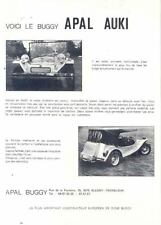 1974 Apal Auki Dune Buggy VW Kit Car Brochure Belgium  wl9088-S3S6WE