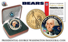 CHICAGO BEARS NFL USA Mint PRESIDENTIAL Dollar Coin-IN  VELVET BOX AND COA*NEW*