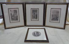 Set of 4 Matted French 18th Century Style Etchings? in Antique Decorative Frames