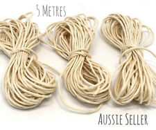 5m twisted natural Cotton Cord 2mm String Craft DIY teething jewellery baby wax