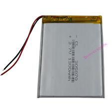 3.7V 1300 mAh Polymer Li battery Li-po For PDA GPS DVD ipod Tablet PC 305070