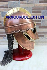 Medieval Valsgrade Armor Helmet ChainMail Viking Larp SCA Roleplay AWQ569Q roman