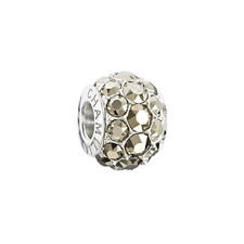 Chamilia Splendor Metallic LightGold Swarovski Bead In 925 SS,2025-1273
