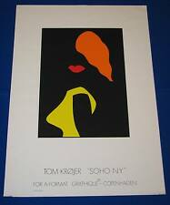 Tom Krøjer Art Exhibit Poster KROJER Danish Modern Woman Lady Lips Soho New York