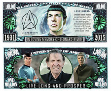 SPOCK / LEONARD NIMOY - BILLET MILLION DOLLAR US ! STAR TREK Série Acteur SF Mr