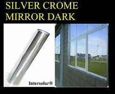 "20""x10' Window Film Silver/Black one way mirror Dark Intersolar® 2 ply"