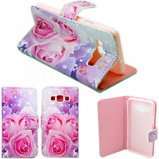 For Samsung Galaxy A3 Flower Print Leather Phone Skin Wallet Cover Case Pouch