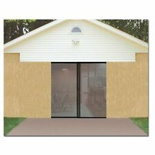 Single Car Garage Door Magnetic Mesh Screen w/ Opening 8' x 7' Keep Bugs Out