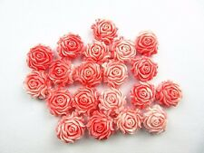 10PCS Beautiful unique red tridacna carved flower pendant bead Vk3649