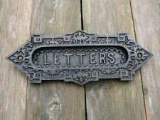 Small Reclaimed Cast Iron Letter Box Plate / Mail Slot