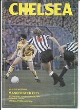Football Programme CHELSEA v MANCHESTER CITY Nov 1984 Milk Cup