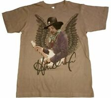 Jimi Hendrix Shirt Angel Little Wing Tultex Small S SM Brown Guitar Legend 70's