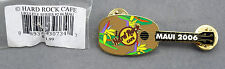 Hard Rock Cafe Pin - 2006 - Maui Hawaii Ukelele w/ Birds of Paradise Flowers