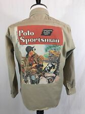 VTG Polo Sportsman Ralph Lauren Shirt Men's Size S USA P Wing Stadium 92 93