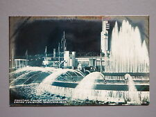 R&L Postcard: Fountain Palace of Engineering Empire Exhibition Scotland 1938