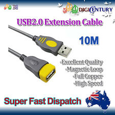 *JH* 10M New USB 2.0 A Male to A Female Extension Cable Cord Full Copper Grey