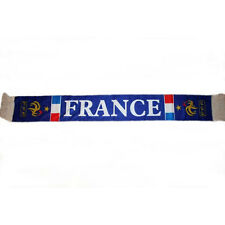 FRANCE BLUE FFF LOGO FIFA WORLD CUP , COUNTRY FLAG CRUSHED FLEECE SCARF.. NEW