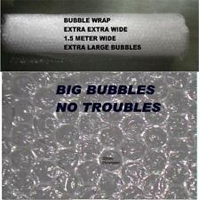 HOME INSULATION BUBBLE WRAP LARGE BUBBLES 150 cm EXTRA WIDE 6 M LONG FREE SHIP