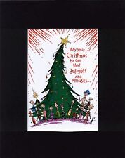 MR. GRINCH~WHOVILLE FOLKS DELIGHT~Mat Print~SINGING AROUND THE XMAS TREE~NEW