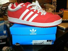 Vintage Mens Adidas Top Ten Low Red/White B-Ball Sz 13 Sneakers in Box Originals