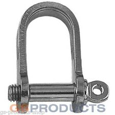 5mm Stainless Steel STRIP FLAT D Shackle A4-AISI 316 Marine Grade Free P+P!