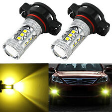 Alla Lighting 2x 3000K 2504 PSX24W Super Gold Yellow 3030 SMD LED Fog ight Bulbs
