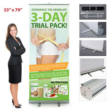 "Herbalife 3-day Trial Pack Retractable Banner 33"" x 79"""