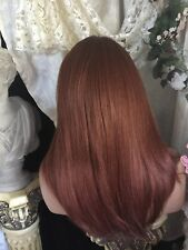 Human Hair Blend, SWISS LACE FRONT,Long Rooted RAVISHINGLY RED H.F Wig��