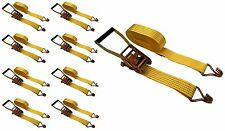 """8 Pc 2"""" inch x 27' Ft Ratchet Tie Down Cargo Straps 5000 Lbs J Hooks 8 pack"""