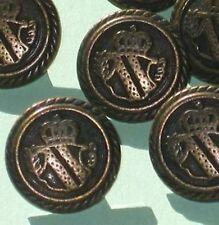 Set 11 Military UNIFORM Style Vintage Antiqued Brass Metal new Buttons