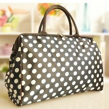 Women's Polka Dot Shoulder Bag Tote Handbag Large Travel/Gym Bag Briefcase