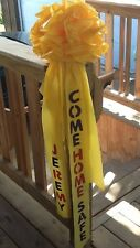 """Personalized GIANT YELLOW RIBBON BOW ~ great for outside  MADE TO ORDER 12""""+"""