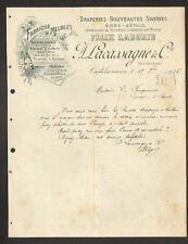 """CASTELSARRASIN (82) MEUBLES / DRAPERIE / NOUVEAUTES """"LABORIE / LACASSAGNE"""" 1916"""
