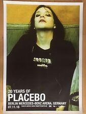 PLACEBO  17  BERLIN  2016  - orig.Concert Poster -- Konzert Plakat  A1 NEU