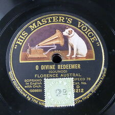 """78rpm 12"""" FLORENCE AUSTAL o divine redeemer / there is a green hill"""