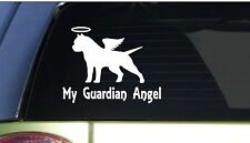 "My Guardian Angel pitbull *I162* 6"" Sticker decal pit bull american bully"
