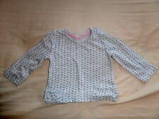 EarlyDays Girls Pale Grey Long Sleeve Spots Top Size 6-9 Months